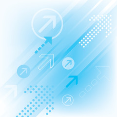 Blue Abstract Arrow Background