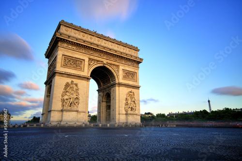 Arc de triomphe at Sunset, Paris Photo by romanslavik.com