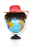 The terrestrial globe and curly wig