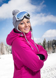 Beautiful woman in winter sportswear