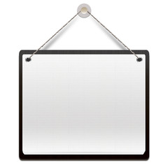Hanging note on wooden board