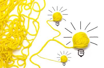 Aus dem Wirrwarr entstehen Ideen