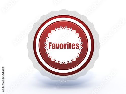 favorites star icon on white background