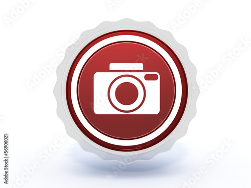 photo star icon on white background