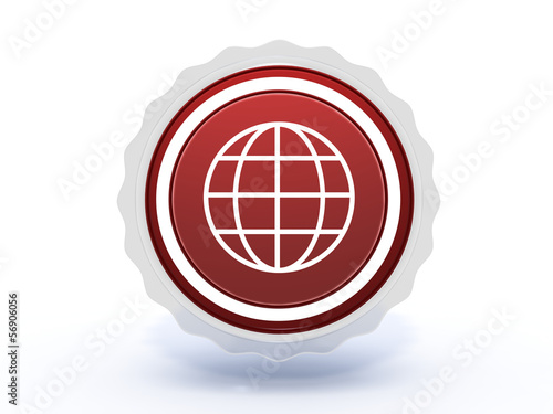 globe star icon on white background