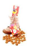 Ginger nuts and presents in shoe