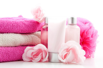 Pink colored spa accessory
