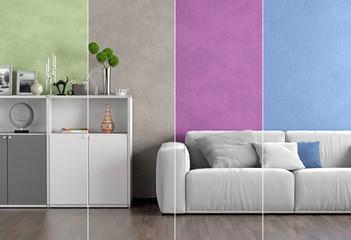 Collage Wohnzimmer