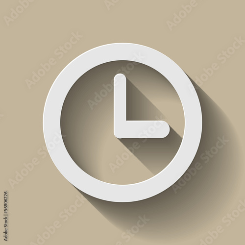 Icon Uhr Long Shadow