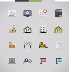 Architecture icon set
