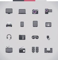 Electronics design icon set