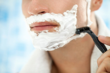 Close up of shaving