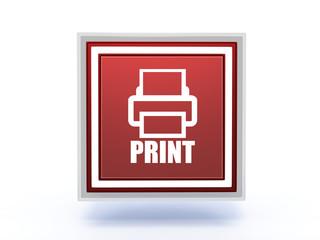 print rectangular icon on white background