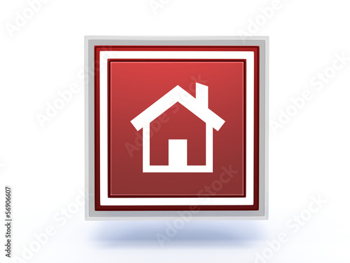 home rectangular icon on white background