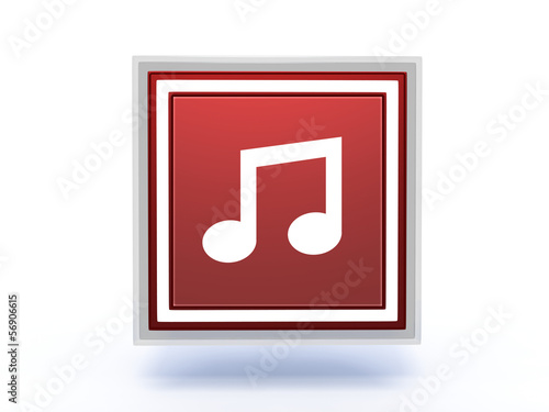 music rectangular icon on white background