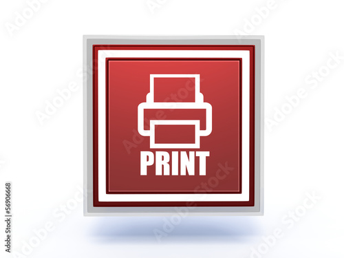 print rectangular icon on white background