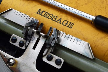 Message on typewriter
