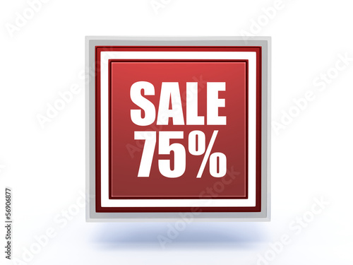 sale rectangular icon on white background