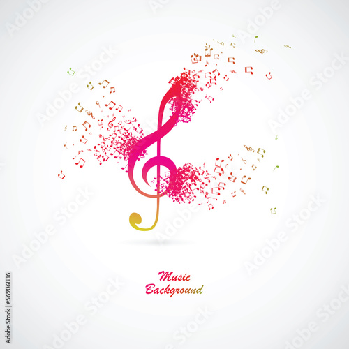 Treble clef with burst effect