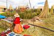 Lake Titicaca Puno, Peru, South America, thatched home. - 56907044
