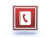 phonebook rectangular icon on white background