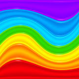 Rainbow plastic vector waves abstract background