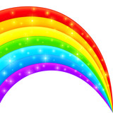 Vector plastic bright shining rainbow