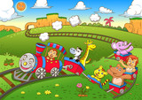 cute animals  train