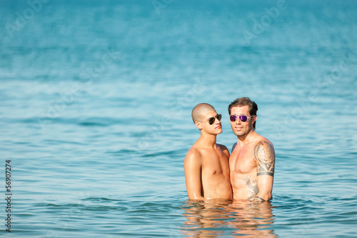 Gay Couple at the beach