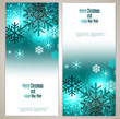 Set of Elegant Christmas banners with snowflakes. Vector illustr
