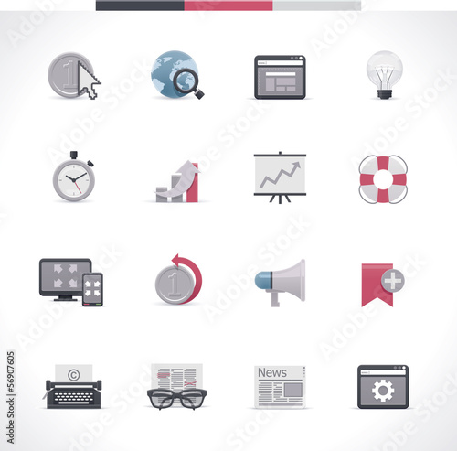 SEO icon set. Part 2