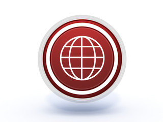 globe circular icon on white background