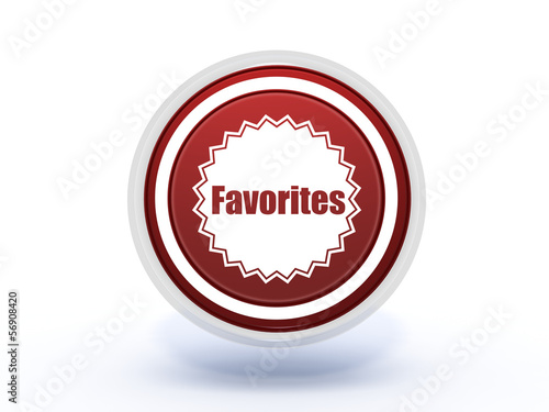 favorites circular icon on white background