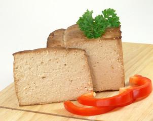 geräucherter Tofublock
