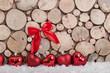 weihnachtsherzen im schnee