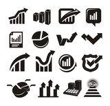 vector charts icons set