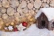 weihnachten geschenke schnee