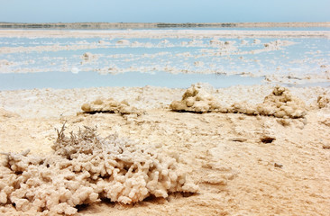 salt deposits of the dead sea, Israel coast