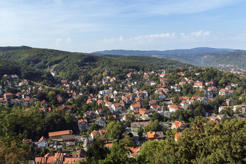 View from Wernigerode Castle, Germany