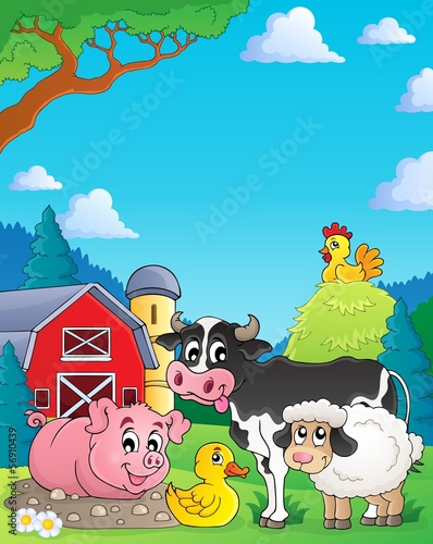 Farm animals theme image 4