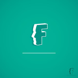 Face sign with letter F
