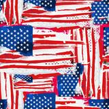 USA Flag Seamless Background.