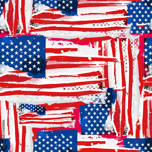 USA Flag Seamless Background. - 56911086