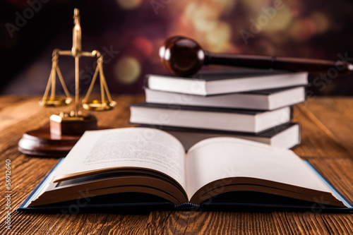 Leinwandbild Motiv Law concept