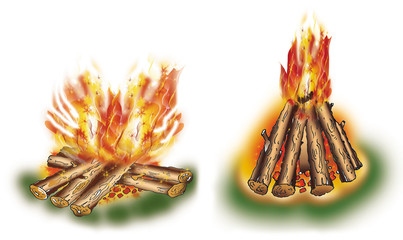 Touristic campfires set 2