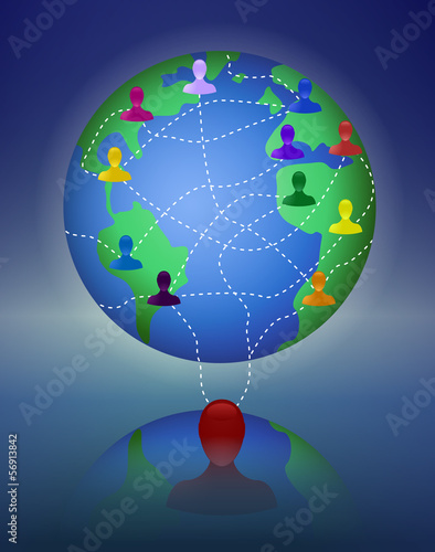 Concept of worldwide network or multi level marketing