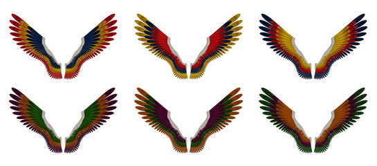Angel Wings Pack - Assorted Triple Colours