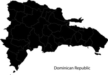 Black Dominican Republic map