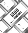 stop racism concept by keyboard keys