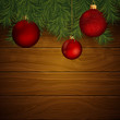 Vector Christmas Background with Baubles